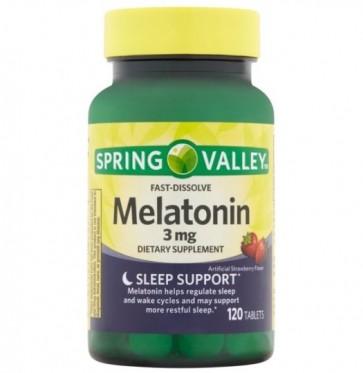 Melatonina 3mg 120 tabs Spring Valley - 10/2021