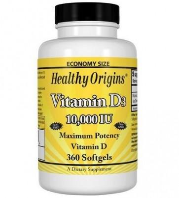Vitamina D3 10.000 360s HEALTHY Origins