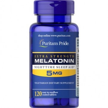 Melatonina 5mg Extra Strengh 120s PURITAN
