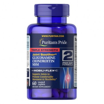 Triple Strength Glucosamine. Chondroitin & MSM Joint Soother® 60s PURITAN