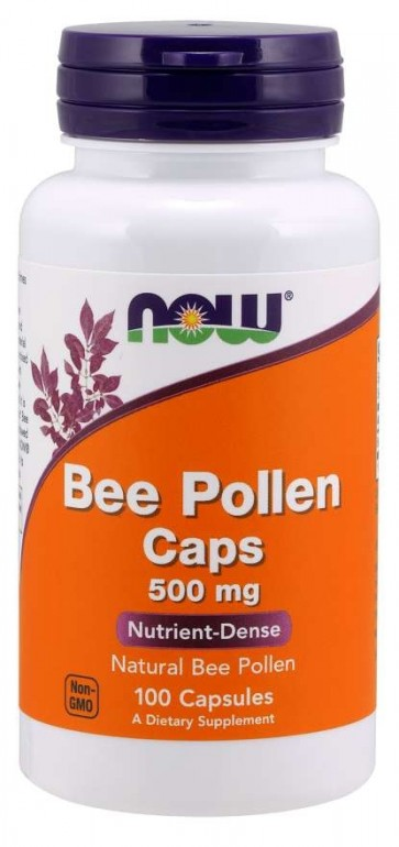 Bee Pollen 500 mg 100 Capsules Now foods