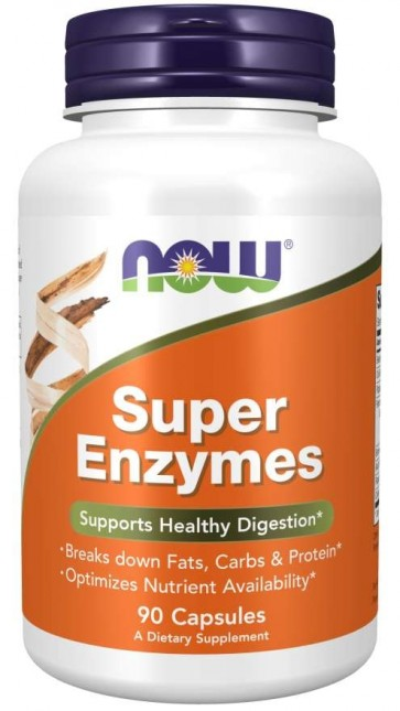 Super Enzymes 90 Capsules Now foods