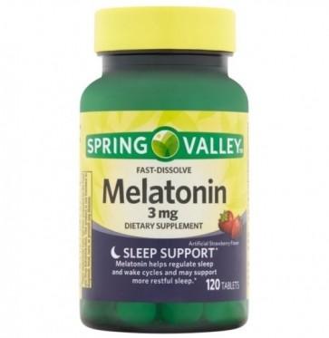 Melatonina 3mg 120 tabs Spring Valley - validade 10/2021