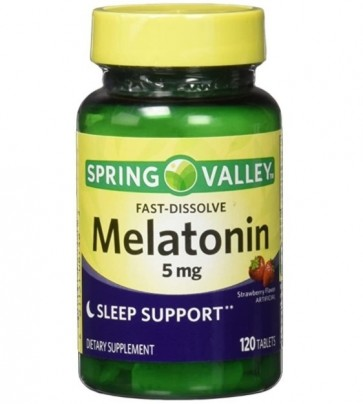 Melatonina 5mg 120 tabs Spring Valley - validade 9/2021
