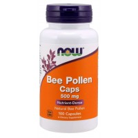 Bee Pollen 500 mg 100 Capsules Now foods