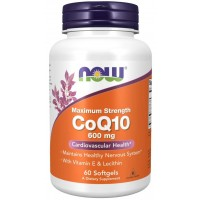 CoQ10 600 mg 60 Softgels Now foods