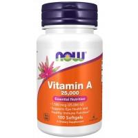 Vitamina A 25,000 iu 100 Softgels Now foods