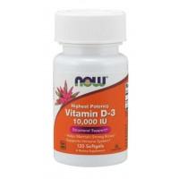 Vitamina D3 10.000 120 softgels NOW Foods
