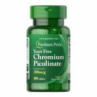 Picolinato de Cromo 200mcg 100 tablets Puritans