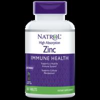 High Absorption Zinc Immune Health, 7.5 mg, Pineapple Chewable Tablet, 60ct Natrol