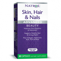 Skin Hair Nails Advanced  Beauty, Capsules, 60ct Natrol